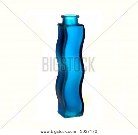 Blue Wavy Vase