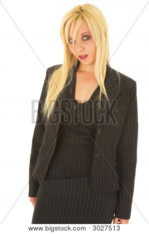 Sexy Blonde Businesswoman
