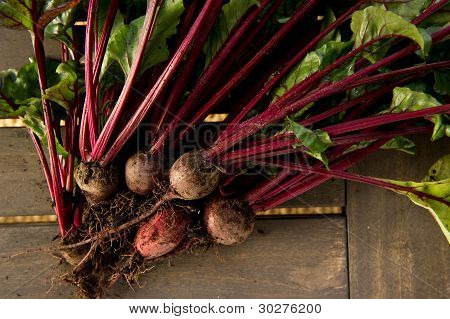 Beets On A Wood Table