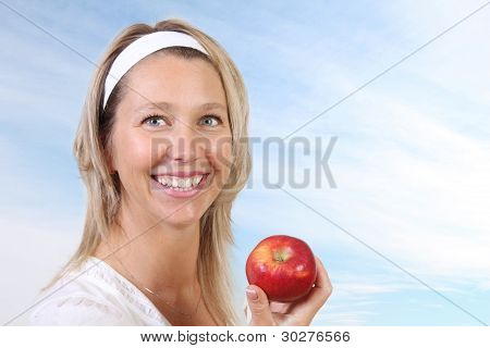 Woman And Apple