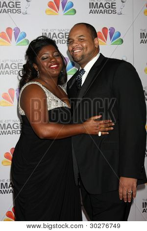 LOS ANGELES - FEB 17:  Julia Pace Mitchell, Stephen L. Hightower II arrive at the 43rd NAACP Image Awards at the Shrine Auditorium on February 17, 2012 in Los Angeles, CA
