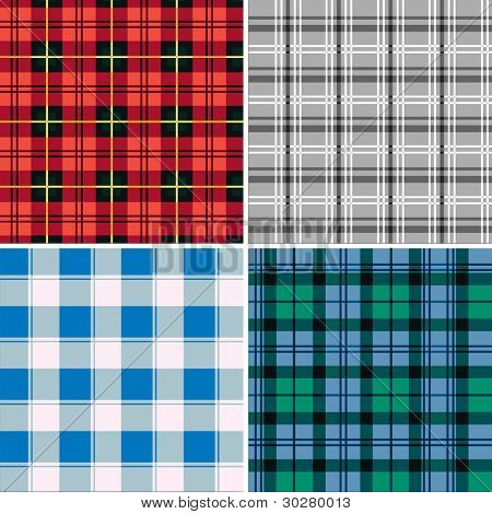Retro Seamless Checked Fabric Pattern