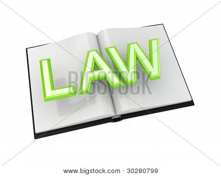 Book of Law concept.