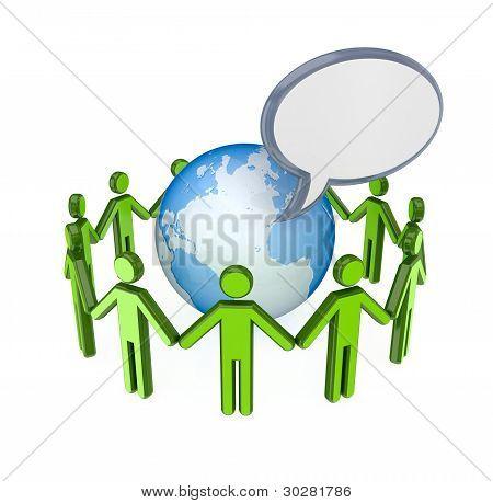Concepto de red social.