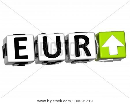 Currency Eur Rate Concept Symbol Button On White Background