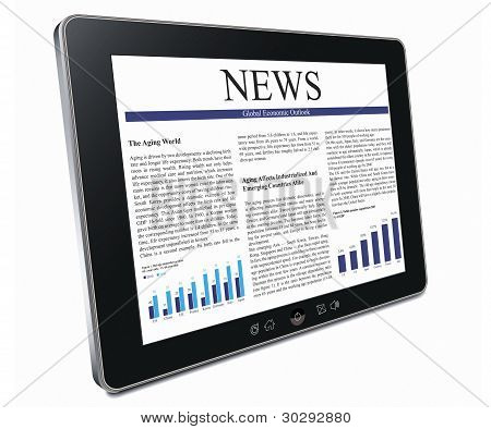 Tablet Pc With Business Article