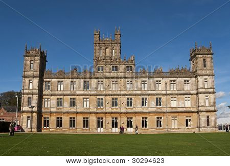 NEWBURY, UK - OCTOBER 13: Highclere Castle is the main setting for the ITV period drama Downton Abbey, on October 13, 2011 in Newbury. Downton Abbey is broadcasted in more than 100 countries.