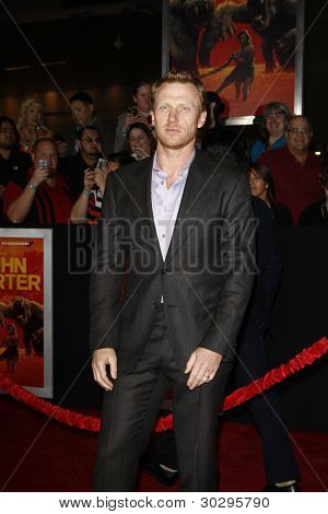LOS ANGELES, CA - FEB 22: Kevin McKidd at the world premiere of 'John Carter' on February 22, 2012 at Regal Cinemas in downtown in Los Angeles, California