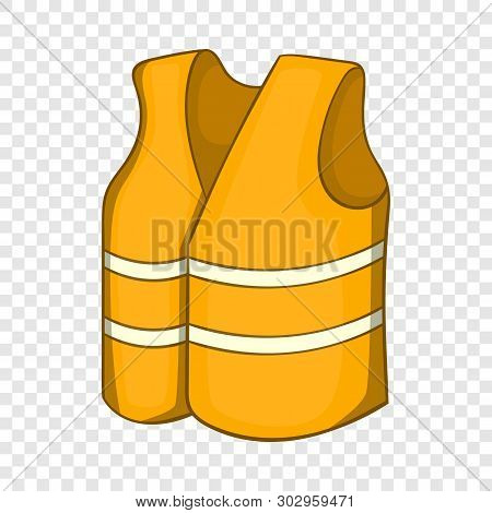 poster of Reflective Vest Icon. Cartoon Illustration Of Reflective Vest Vector Icon For Web Design