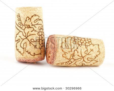 Two Wine corks