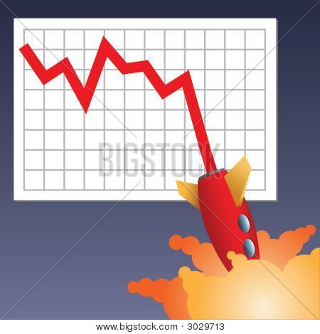 Business Chart Crashing Down