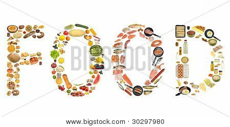 Food Isolated On White Background