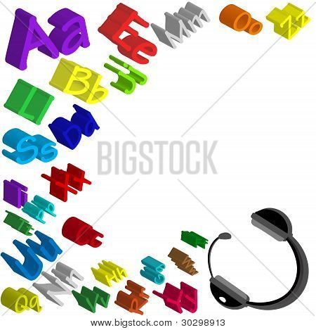 Multicolored letters background