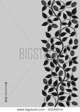 Floral background with a berries
