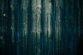 Texture Of Shabby Dark Green Boards. Oak Vintage Table. Black Green Wooden Planks Background. Dark G poster