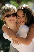 foto of mother daughter  - happy family on a sunny day - JPG