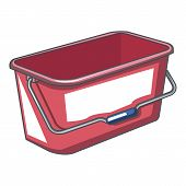 Domestic Bucket Icon. Cartoon Illustration Of Domestic Bucket Icon For Web poster