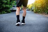 Man Running Jogging On Road,sport Healthy,man Running Jogging On Road,sport Healthy poster