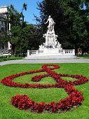 image of glorify  - The Mozart monument in the castle garden in Vienna - JPG