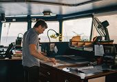 Marine Navigational Officer Or Chief Mate On Navigation Watch poster