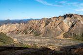 Volcanic Mountains Of Landmannalaugar In Fjallabak Nature Reserve. Iceland poster
