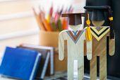 Education Knowledge Learning Study Abroad International Ideas. People Sign Wood Graduation Celebrati poster