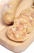 stock photo of ou  - some slices of botifarra de ou typical of Catalonia - JPG
