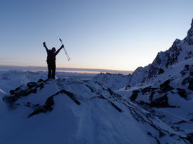 pic of hatcher  - Celebrating after a ski tour in Hatcher Pass Alaska - JPG
