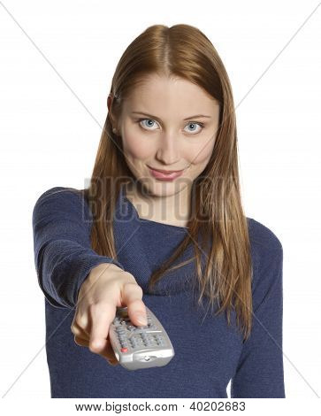 Woman With Remote