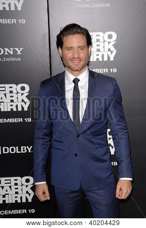 LOS ANGELES - DEC 10:  Edgar Ramirez arrives to the 'Zero Dark Thirty' premiere at Dolby Theater on December 10, 2012 in Los Angeles, CA