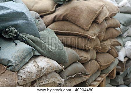 Brown And Green Sandbags