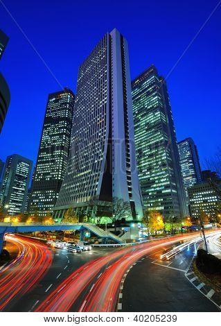 Office buildings in Shinjuku, Tokyo, Japan.