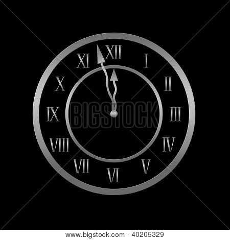 Clock Is Showing Almost Twelve