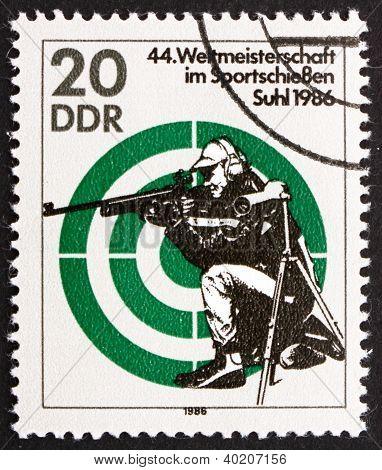 Postage Stamp Gdr 1986 Rifle Shooting