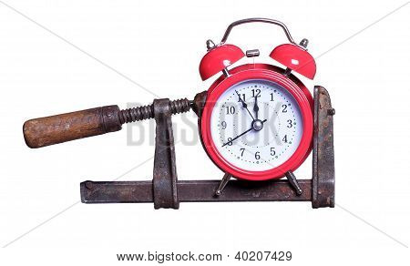 Time Under Pressure With Red Alarm Bell