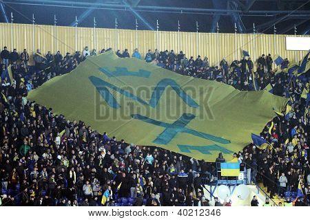 Metalist Fans Support Their Team During Match
