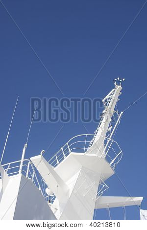 Navigation Crows Nest On Cruise Ship