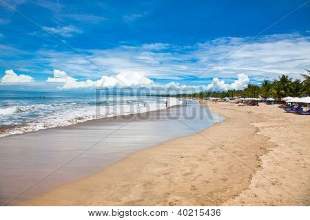 Beautiful sandy Dreamland beach on  Bali, Indonesia.