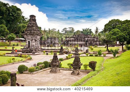 Candi Penataran temple in Blitar, east Java,  Idonesia.