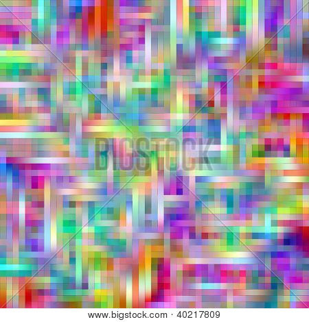 Bright rainbow colors grid matrix abstract pattern.