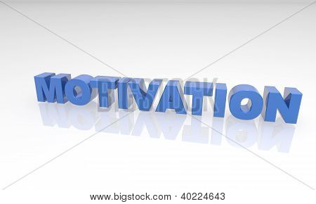 Blue Motivation 3D text