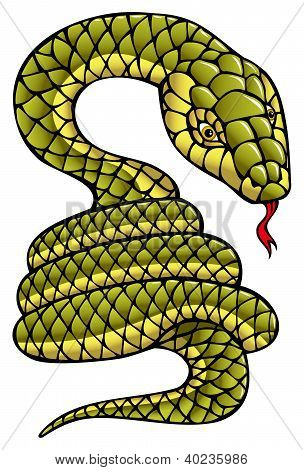Snake, symbol of coming year