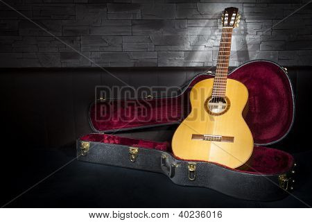 illuminated classic music guitar