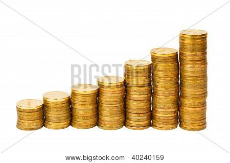 lot of golden coins