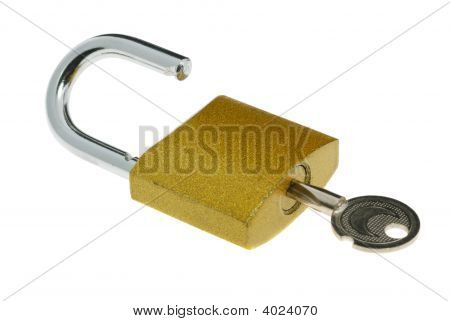Lock Open And Key
