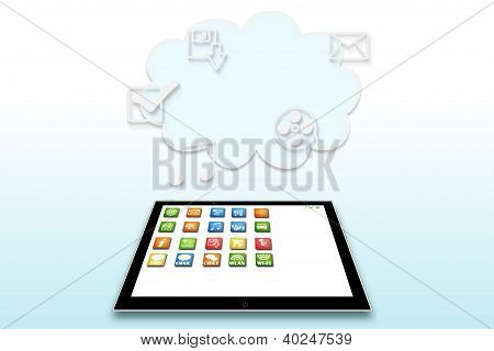 mobile computer illustration