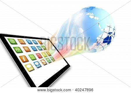 Tablet computer illustration