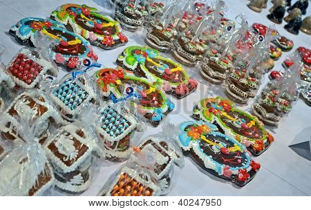 Kiev - Dec 01: New Year Holiday Gift Heap On Christmas Charity Bazaar In Kiev, Ukraine On December 0