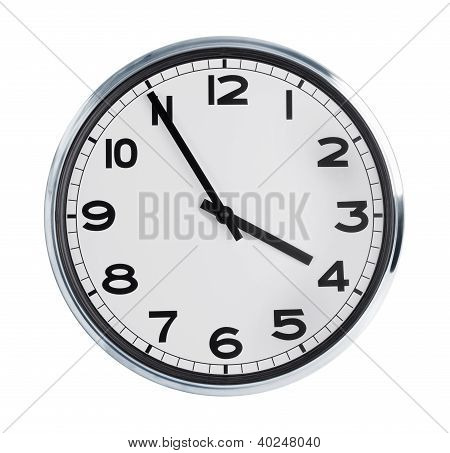 Round Wall Clock On A White Background