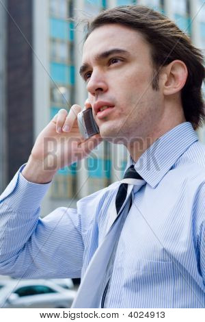 Businessman Talking On Cellphone